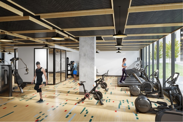Fitness Center at Porte Apartments